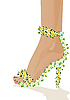 Vector clipart: Shoes flowers