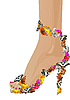 Vector clipart: Shoes with butterflies