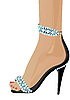 Vector clipart: Shoes with Diamonds