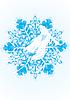 Snow Maiden on snowflake