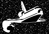 Vector clipart: Spacecraft in space
