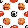 Векторный клипарт: Спортивные мячи