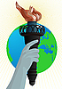 Vector clipart: Statue of Liberty torch