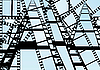 Vector clipart: The background of the film