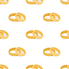Vector clipart: The background of the wedding rings