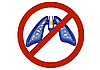 Vector clipart: The ban on smoking