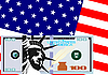 Vector clipart: The dollar and the U S flag