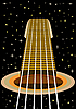 Vector clipart: guitar and the starry sky