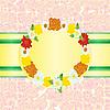 Векторный клипарт: Кадр из цветов