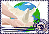 Vector clipart: Postage stamp A white dove