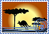Vector clipart: Postage stamp Australia