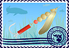 Vector clipart: Postage stamp Fishing tackle