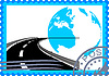 Vector clipart: Postage stamp with road