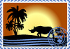 Vector clipart: Postage stamp Savannah