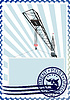 Vector clipart: Postage stamp The construction crane