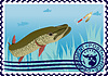 Vector clipart: Postage stamp The hunt for pike