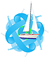 Vector clipart: Traveling on yacht