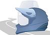 Vector clipart: Two helmet