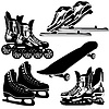 Vector clipart: Sports equipment