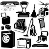 Vector clipart: Household appliances