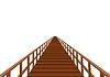 ID 3328739 | Wooden bridge with handrail | Stock Vector Graphics | CLIPARTO