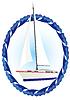 游艇 | 向量插图