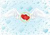 Векторный клипарт: Крылья любви