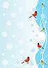 Векторный клипарт: Зимние птицы