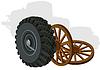 Vector clipart: Wheels