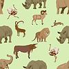 Vector clipart: Wild animals