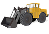 Vector clipart: Wheeled Tractor