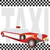 Векторный клипарт: такси