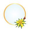 Rahmen mit gelber Blume