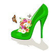 Shoes, flowers and butterflies | Stock Vector Graphics