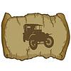 ID 3345099 | 老式汽车和羊皮纸 | 向量插图 | CLIPARTO