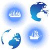 Land and sailing ships