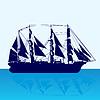Vector clipart: Sailing ship