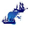 Sailing ships and land