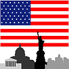 Vector clipart: Architecture of United States