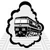 Vector clipart: Modern locomotive