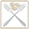 Vector clipart: Table forks and dumplings