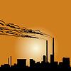 Vector clipart: Industrial building-