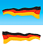 German flag | Stock Vector Graphics