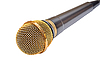 Gold microphone | Stock Foto