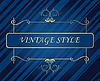 Vector clipart: Template vintage frame