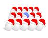 Vector clipart: Santa cap over eggs