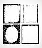 Vector clipart: vintage frames
