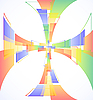 Vector clipart: Abstract colorful cross background