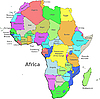 Vector clipart: Color map of Africa with countries