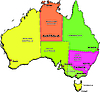 Vector clipart: Australia map with states